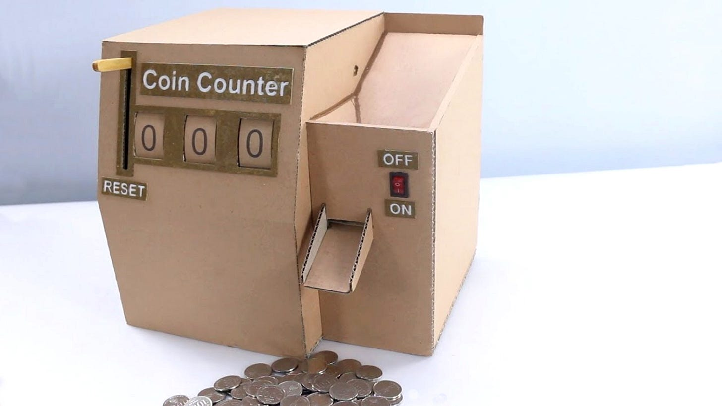 not a coin operated salesperson