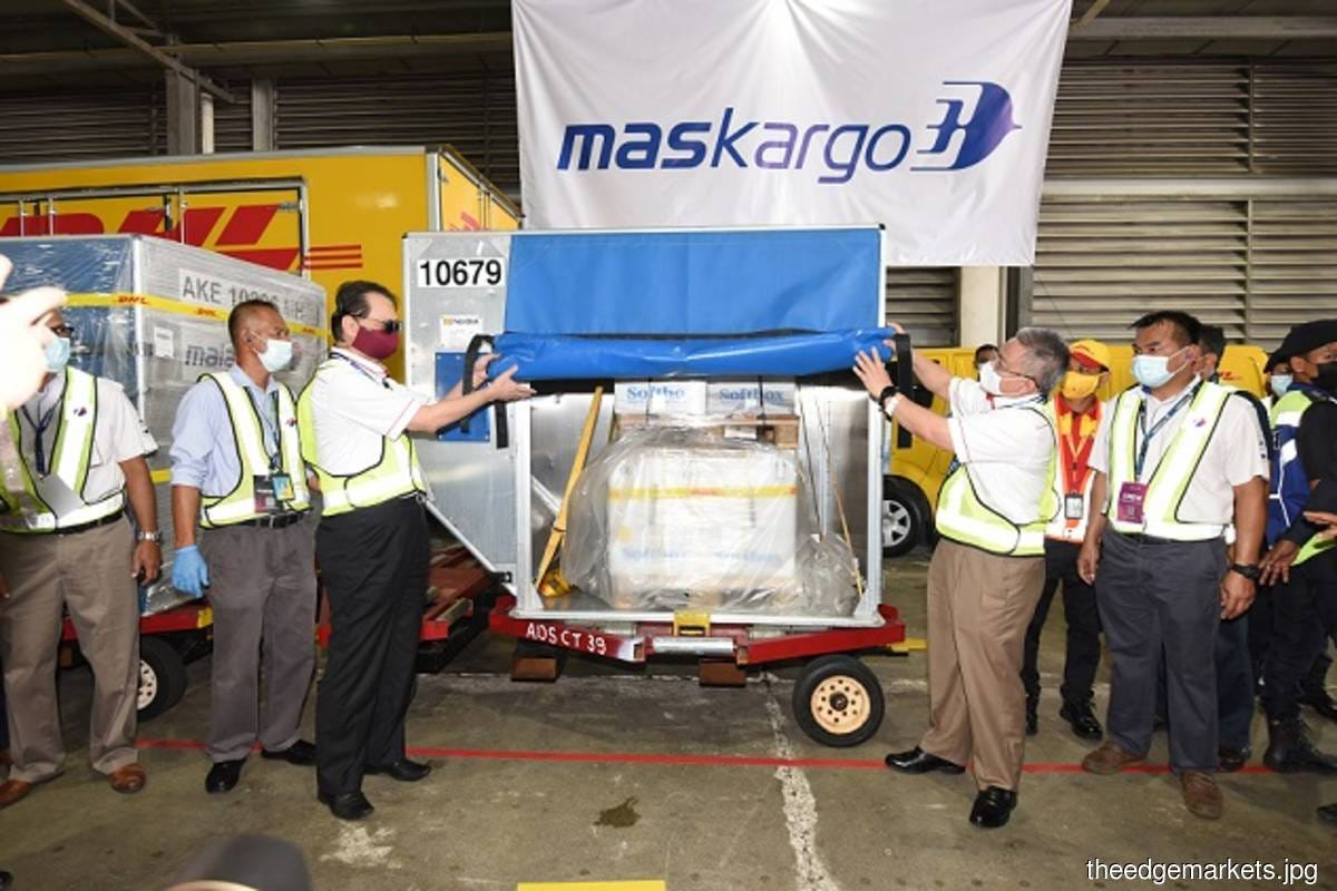 MASkargo flies in Malaysia's first batch of Covid-19 vaccines