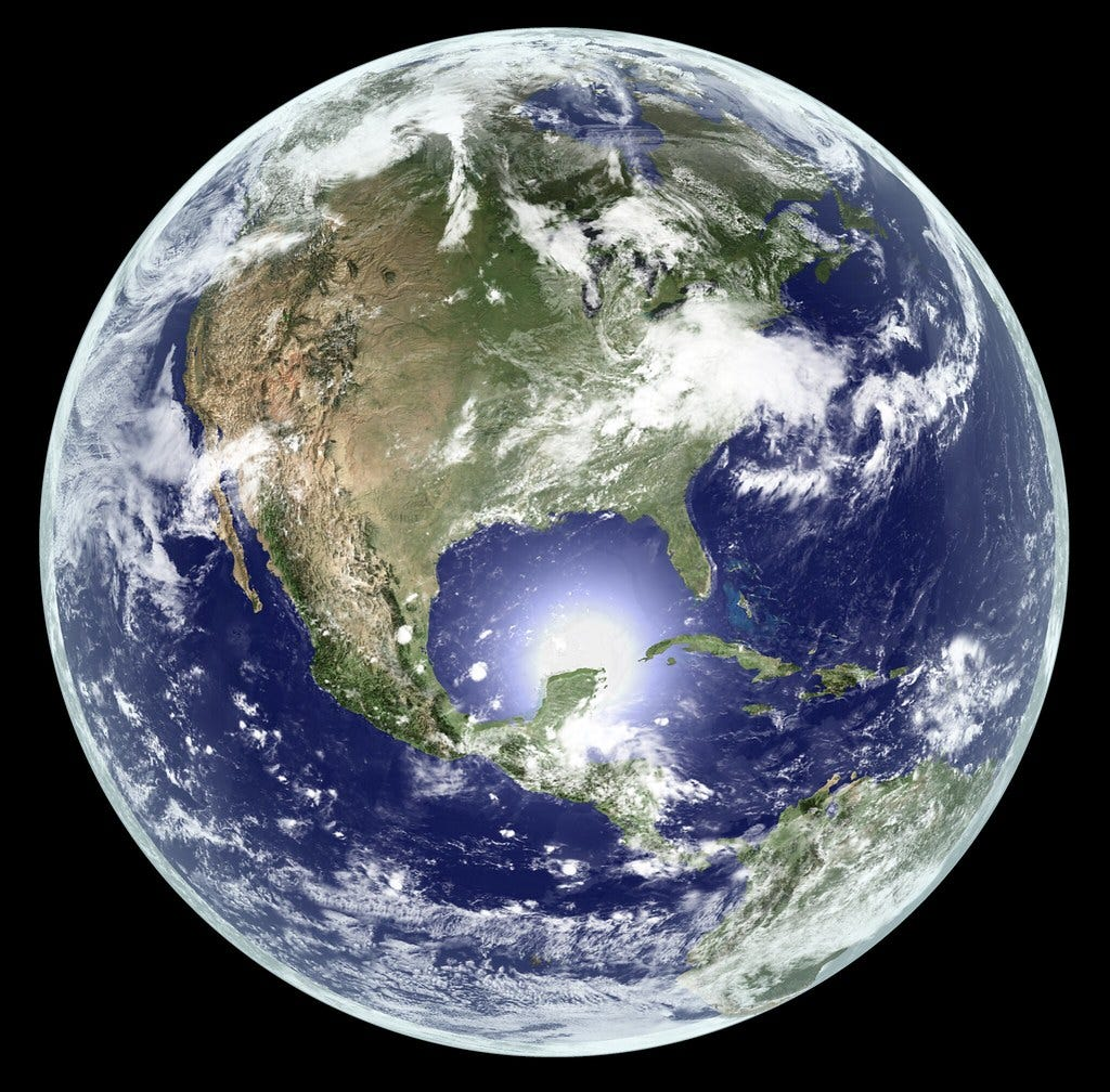 """""""Earth - Global Elevation Model with Satellite Imagery (Version 2)"""" by Kevin M. Gill is licensed under CC BY 2.0"""