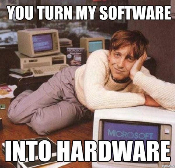 Software Into Hardware | Bill Gates | Know Your Meme