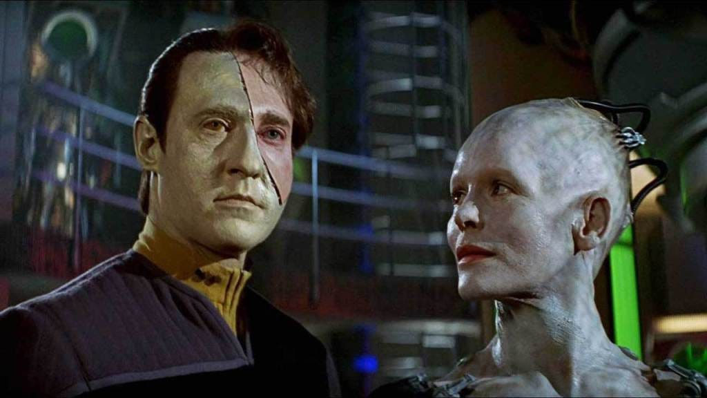 Data and the Borg Queen