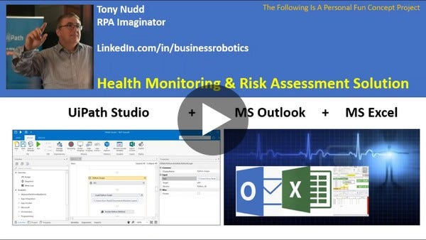 UiPath RPA In The Fight Against COVID-19 - Health And Risk Inventory robot (HARI)
