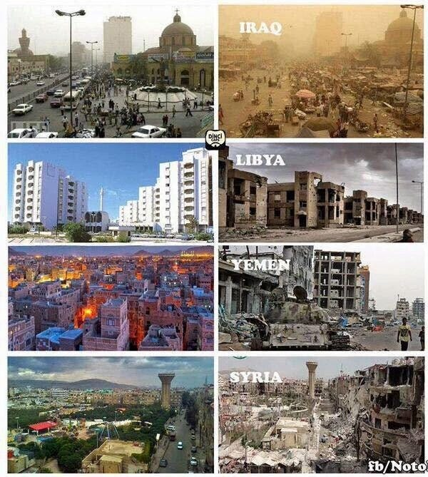 Image result for iraq before the war and after
