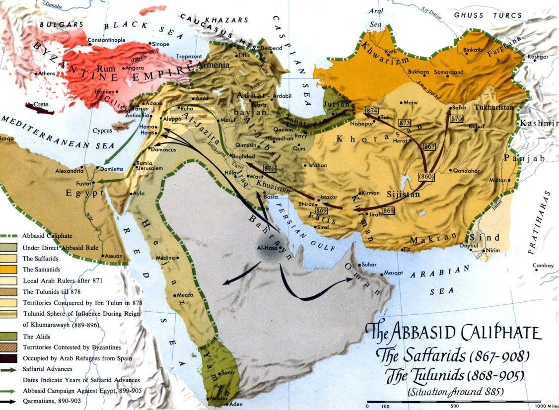 Map - Saffarids & Tulunids
