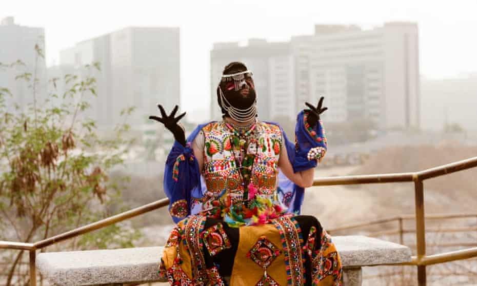 Drag artist Patruni Chidananda Sastry from Hyderabad, India