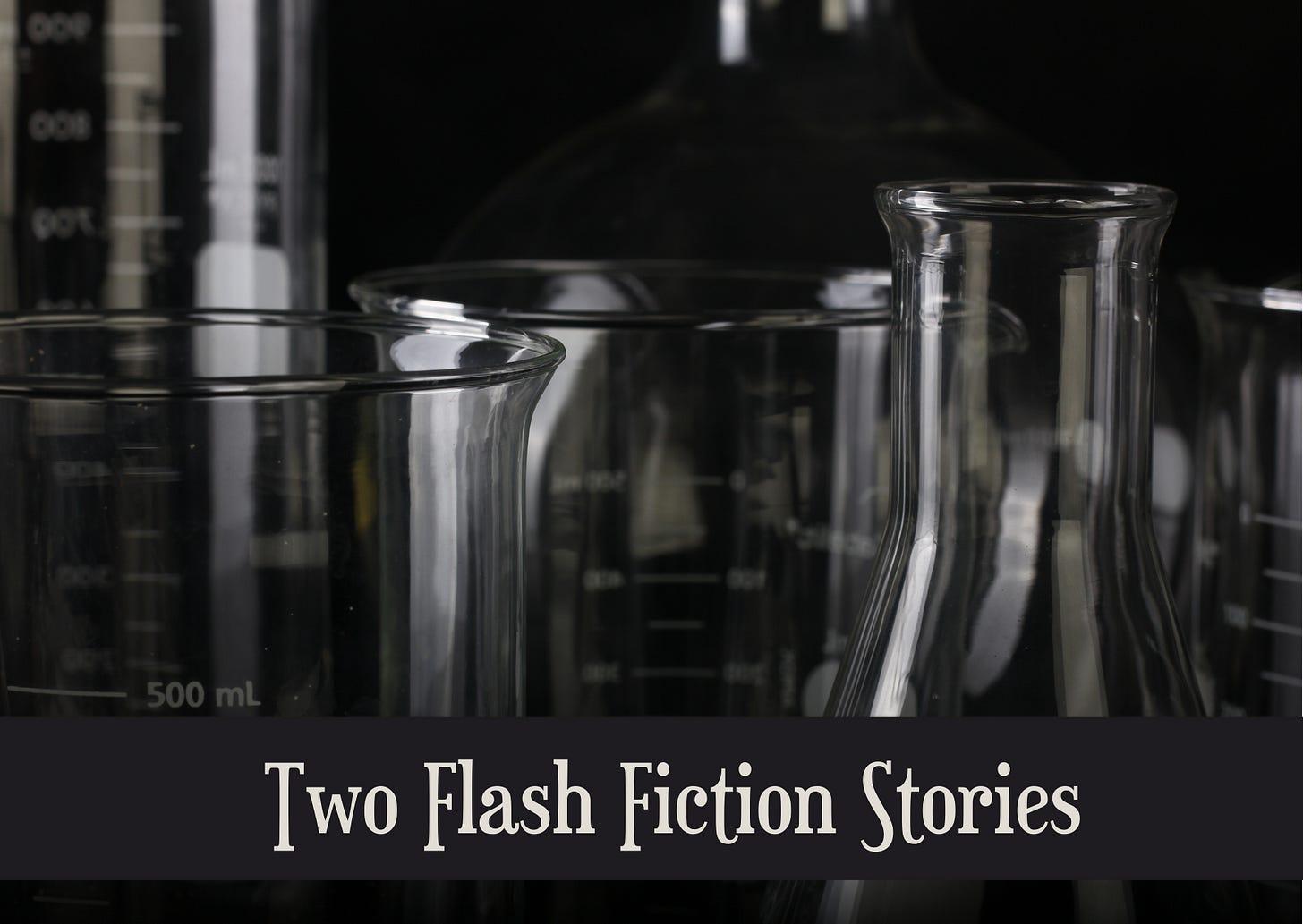 header image showing glass laboratory equipment