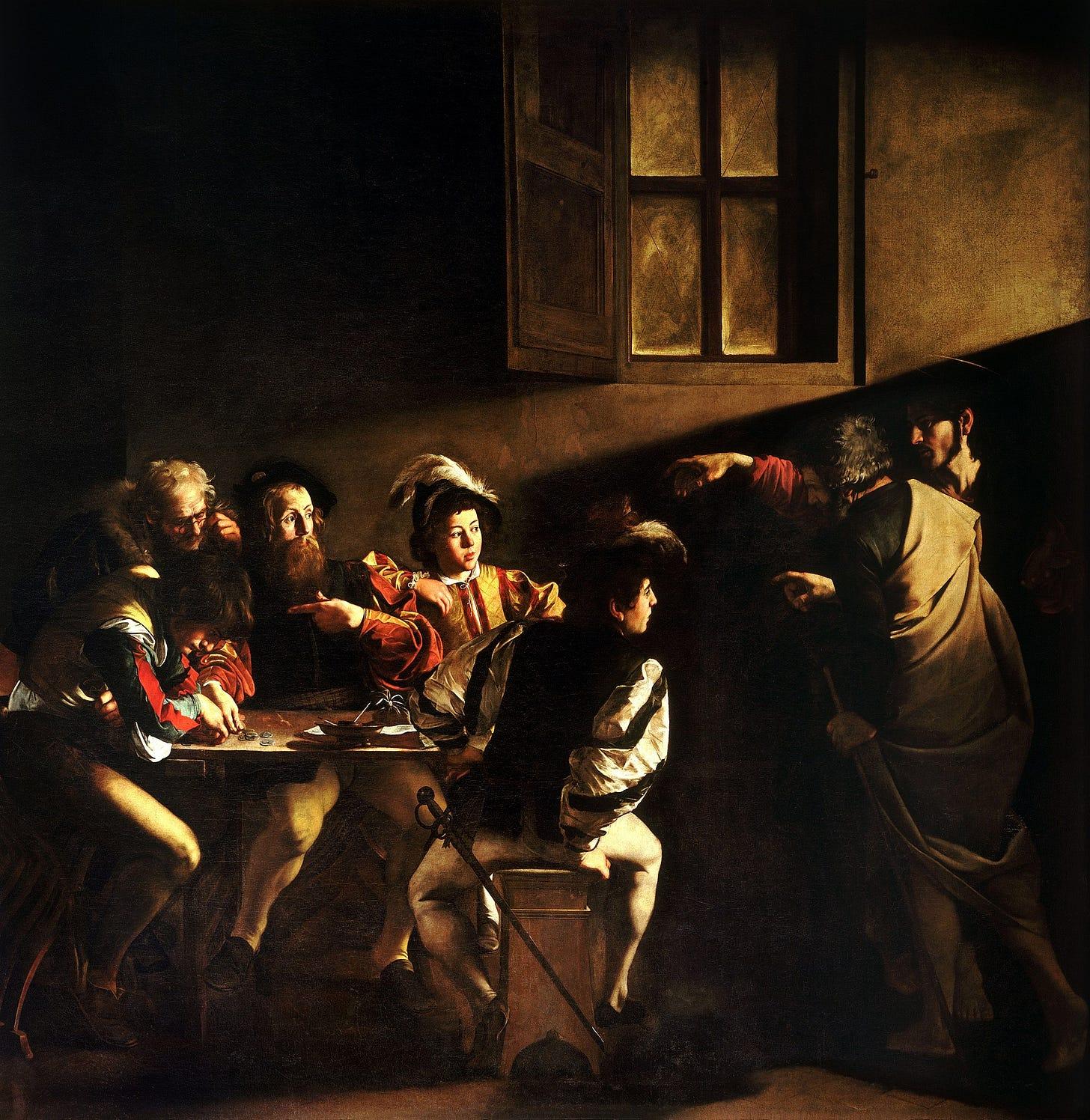 The Calling of Saint Matthew-Caravaggo (1599-1600).jpg