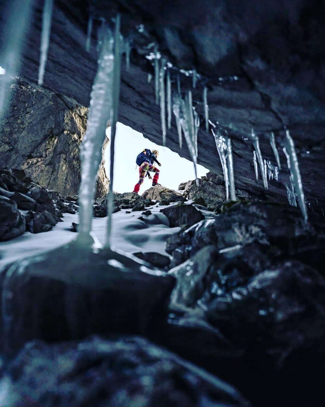 hiker in the winter