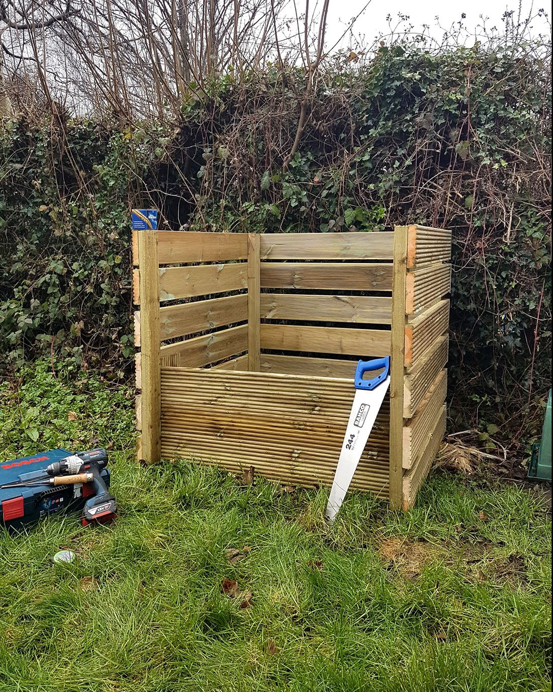 Photo of finished compost bin