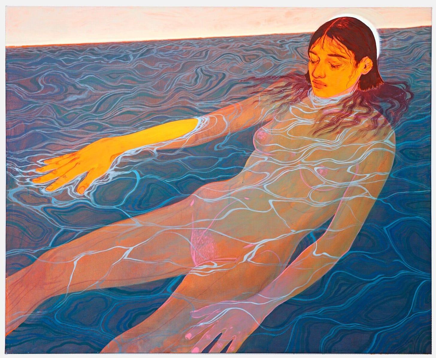 "omira   54"" x 66"" acrylic on canvas 2020"
