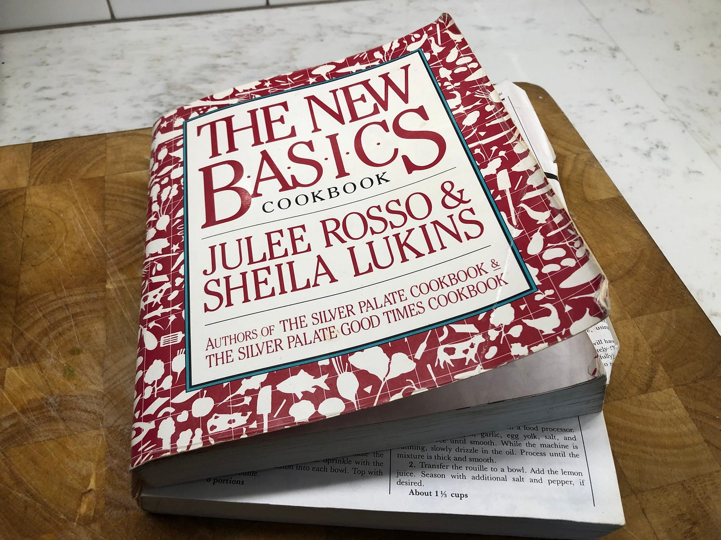 """My battered copy of """"The New Basics Cookbook"""""""