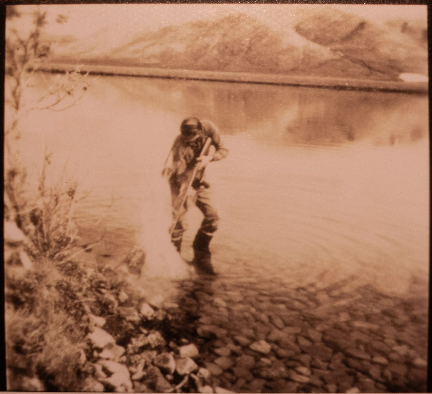 Great Uncle Bob fishing in the Brooks Range