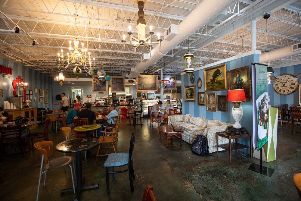 Interior of Amélie's Bakery in Atlanta.