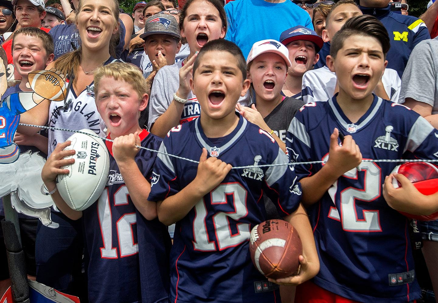 There's no doubt who the fan favorite is at Patriots practice.