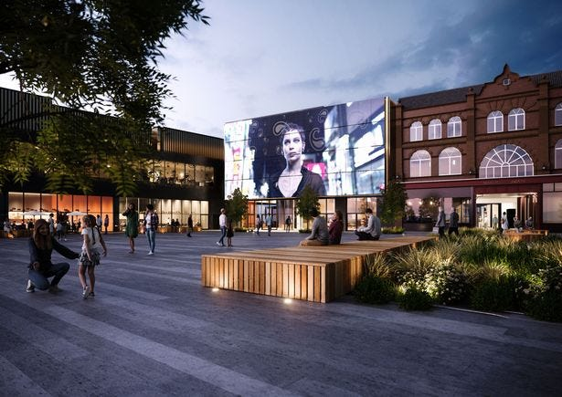 The planned transformation of the Galleries shopping centre in Wigan