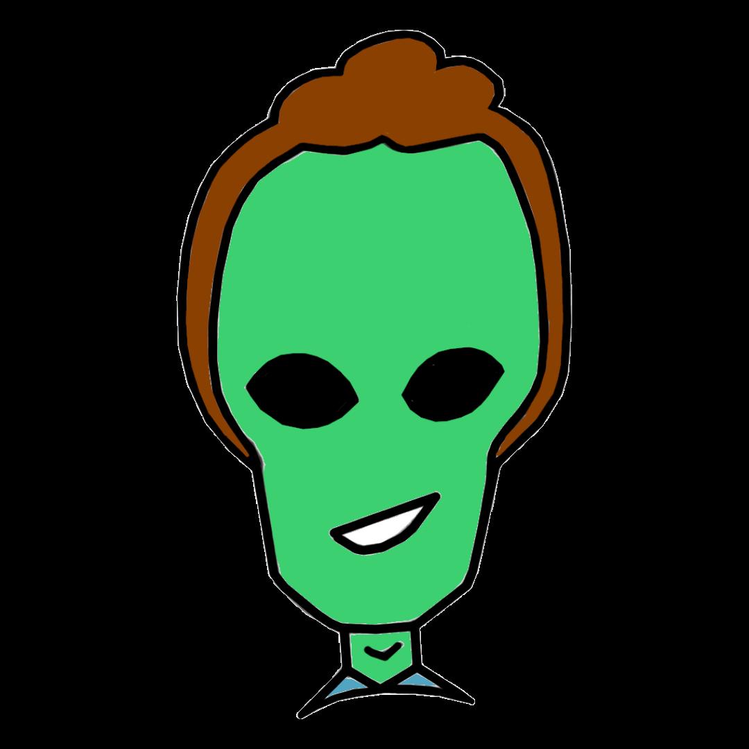 Alien Cartoon of Ross Barkan