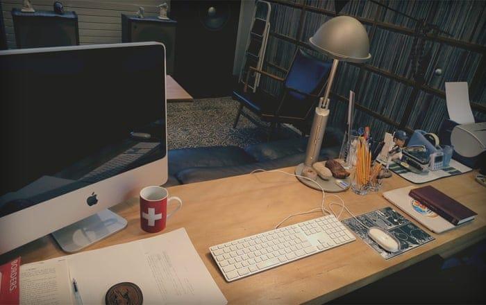 Here's Haruki Murakami's desk – is yours as tidy?   Haruki Murakami   The  Guardian