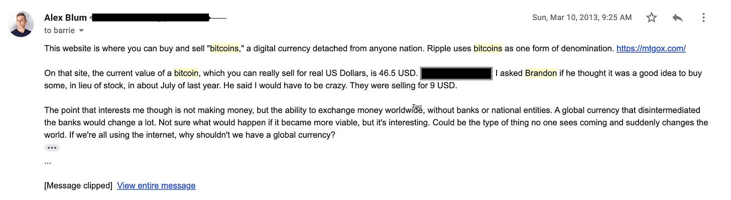 alexander s blum bitcoin email 2013