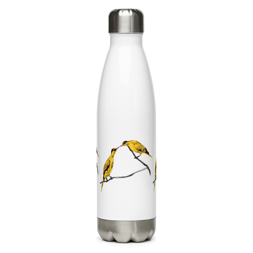 Commitment line drawing stainless steel water bottle drink ware by Melinda Yeoh