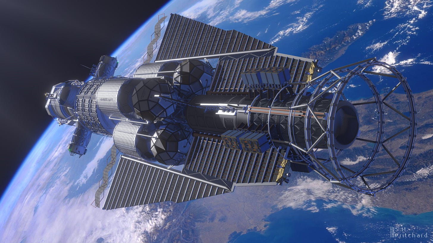 In orbit over Earth. (Photo of Earth taken by ESA astronaut Alexander Gerst)