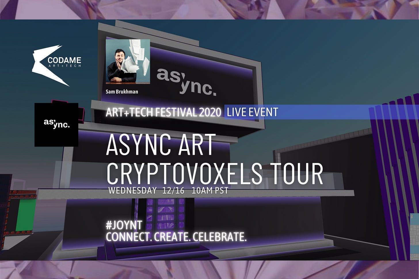 Async Art Cryptovoxels Tour