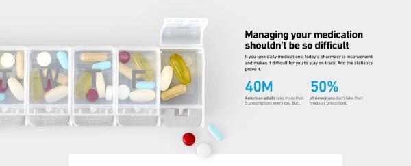 Pillpack ile CVS'te sıra beklemiyor, yukarıdaki gibi ilaçlarınızı sıralamak zorunda kalmıyorsunuz. Hatta reçeteniz otomatik olarak yenileniyor.
