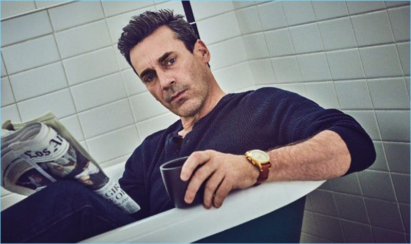 Jon Hamm Covers August Man, Dons Montblanc Watches | The ...