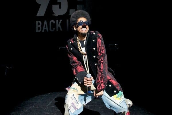 """Shock G performing with Digital Underground in Los Angeles in 2011 as his alter egos Humpty Hump. The group's first album, """"Sex Packets,"""" sold a million copies and featured the hit single """"The Humpty Dance."""""""