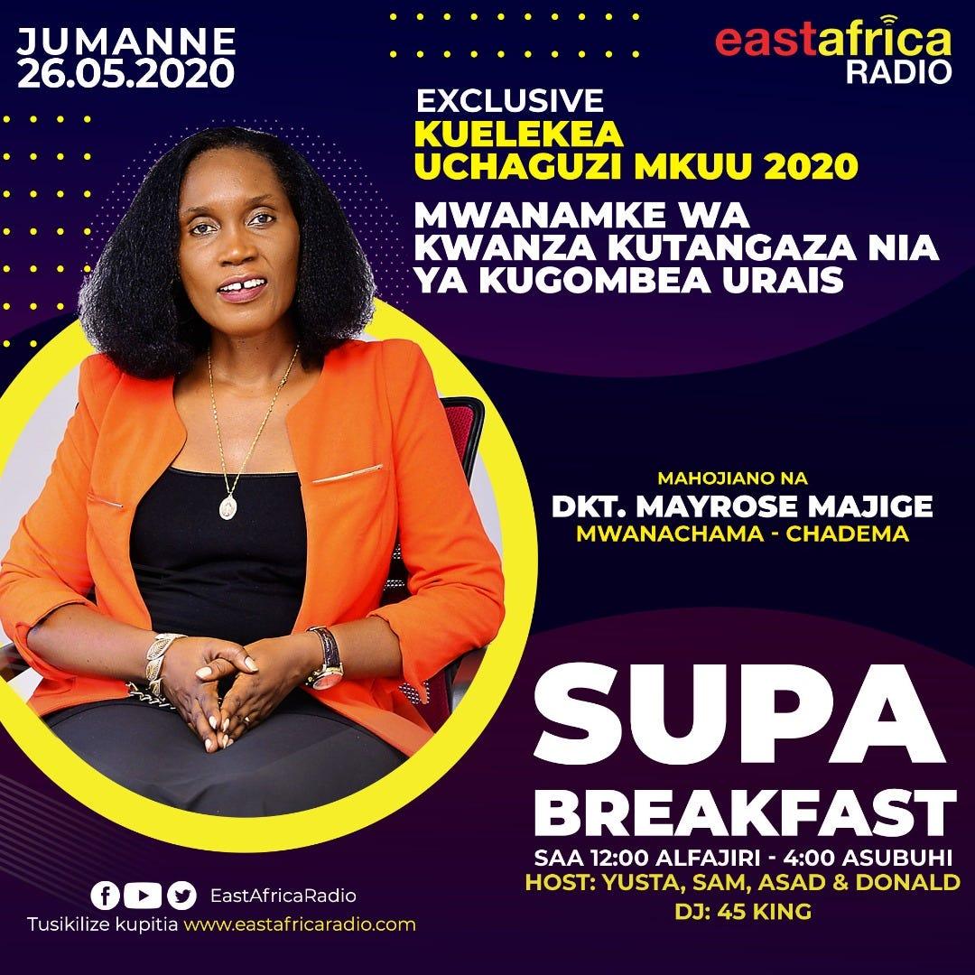 Live from EA Radio Super Breakfast: Mtangaza Nia Urais wa JMT ...