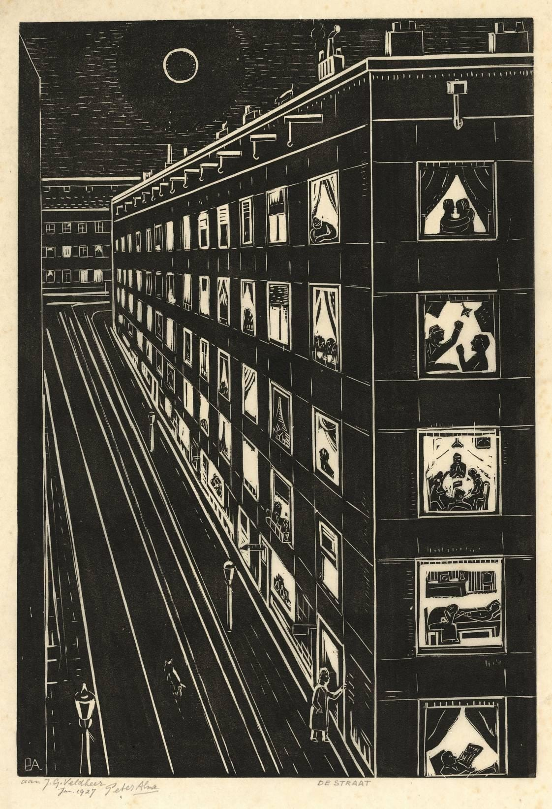 "Alma, P. (1886-1969). ""De straat""."
