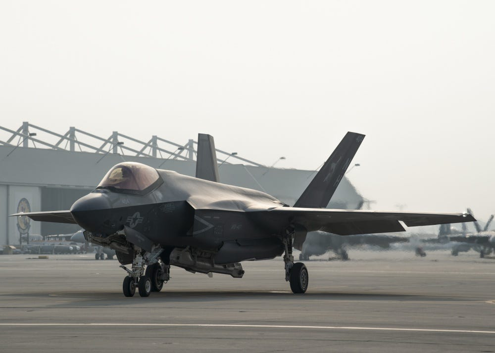 Navy's F-35c Gets Ready for Take-off