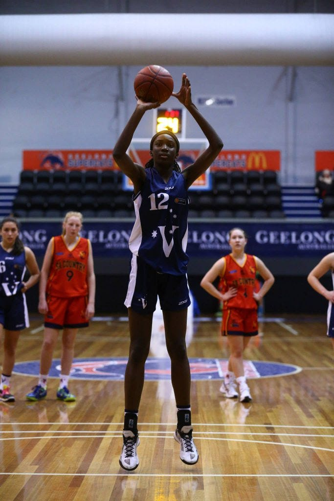 Ezi Magbegor | Credit: Basketball Australia/Kangaroo Photo's