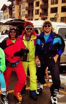 80's skiers