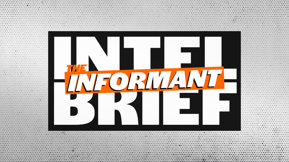 The Informant logo in orange atop the words INTEL BRIEF in black and white