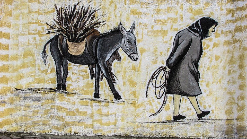 Graffiti, Painting, Traditional, Rural Life, Village