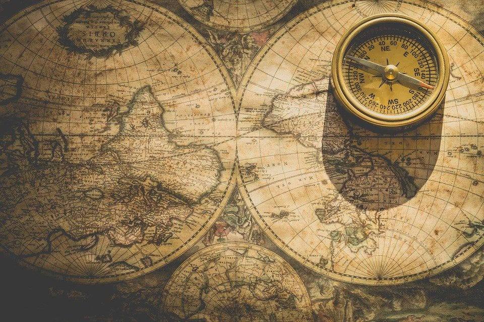 Compass, Map, Direction, Degrees, North, East, South