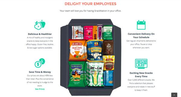 Sağlıklı Atıştırmalık paketleri $249'dan başlıyor