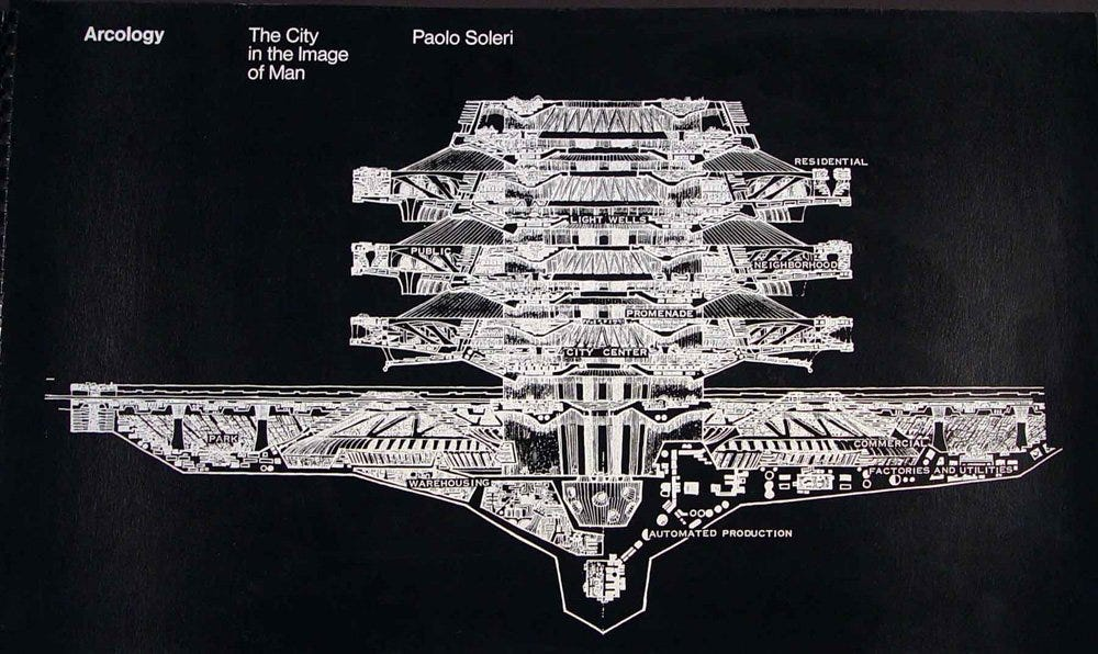 Arcology: the city in the image of man: Paolo Soleri, Peter Blake:  9780262190602: Amazon.com: Books