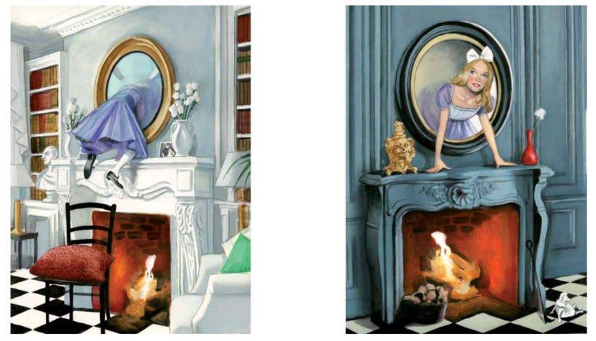 Ilustración de Alicia a través del espejo