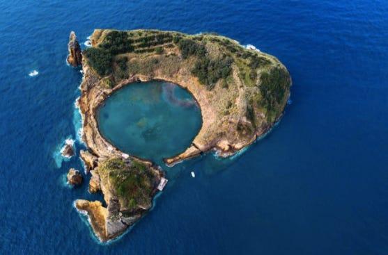 Islet of Vila Franca do Campo Sao Miguel in the Azores Islands, Portugal