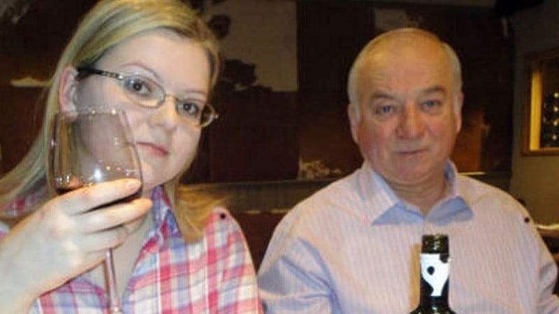 Sergei Skirpal and daughter Yulia who were poisoned in Salisbury