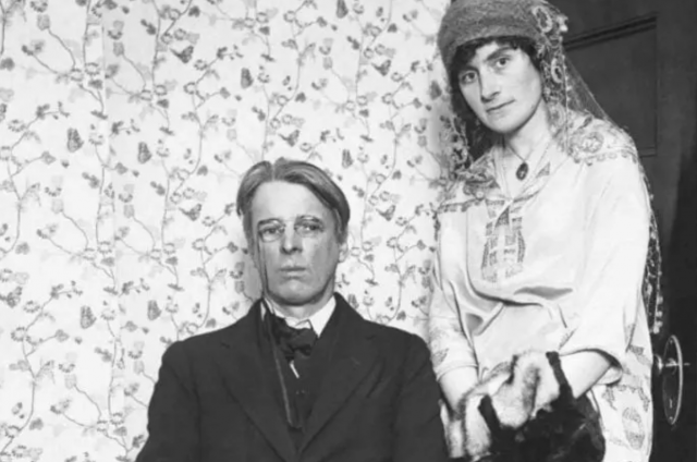 photograph of W.B. Yeats and Georgie Hyde-Lees