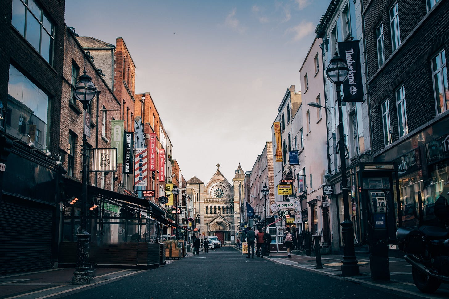 Photo of Parliament Street in Dublin for article by Larry G. Maguire