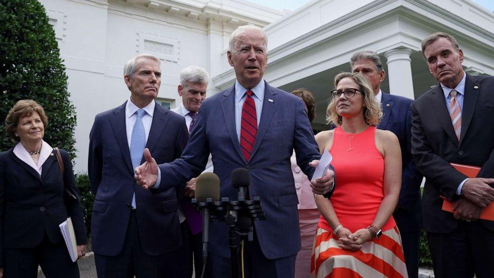 Biden, bipartisan senators say they have $1.2 trillion framework  infrastructure deal - ABC News