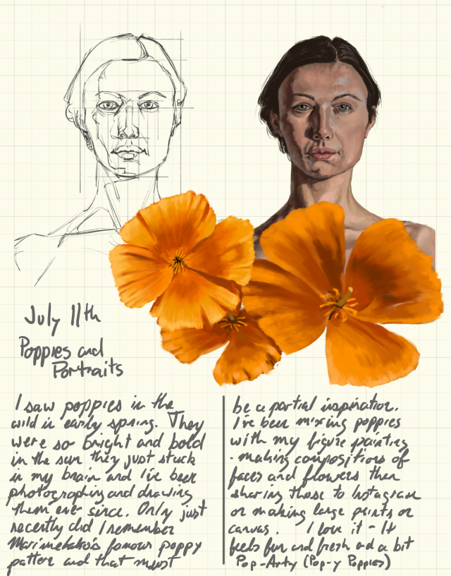 Poppies and Portraits