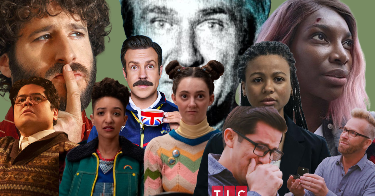 a collage of TV characters
