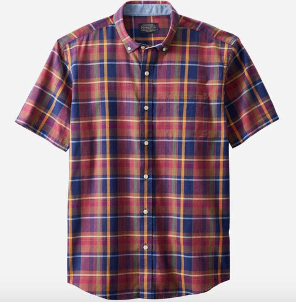 the pendleton short sleeve madras shirt for men