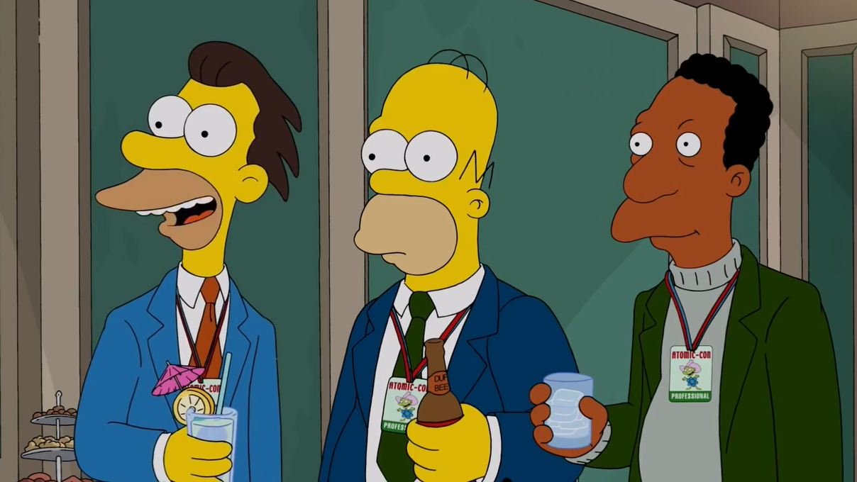 Homer, Lenny and Carl in formal clothes. | The simpsons, Homer, Simpson