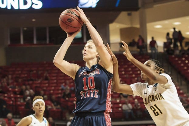 Sheedy in action against California - Courtesy of Fresno State Athletics