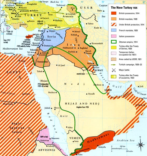 Map - Turkey 1926